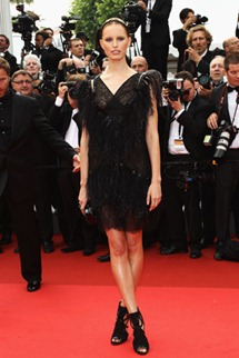 64th cannes film festival karolina kurkova chanel