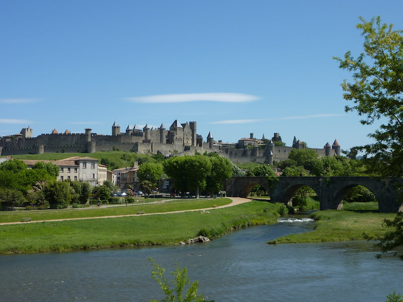 Carcassonne in the distance