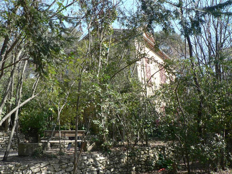 Paul Cezanne's house through the trees