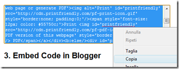 PrintFriendly su Blogger