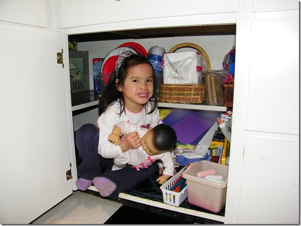 sarah in the cabinet