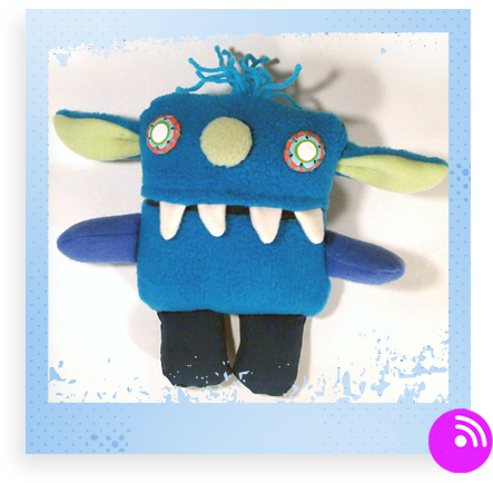 Li'l Tiny Monster - blue by Happycloud Thunderhead