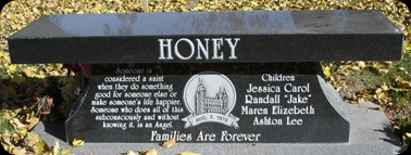 Honey Denise Jessica headstone back