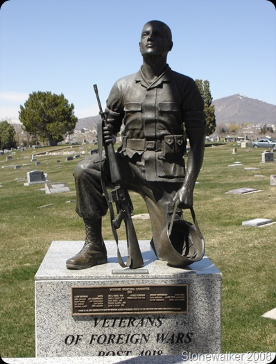 AF Cemetery Veterans Statue Memorial