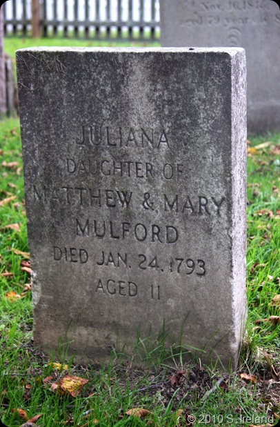 Mulford Juliana headstone