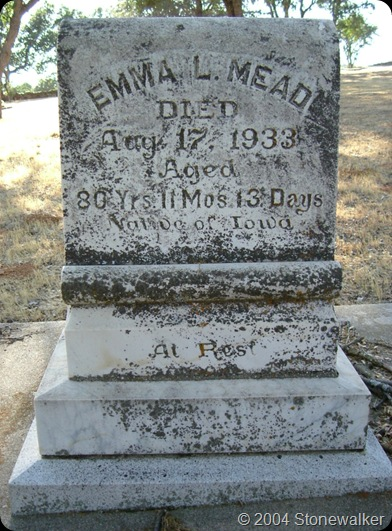 Mead Emma L headstone