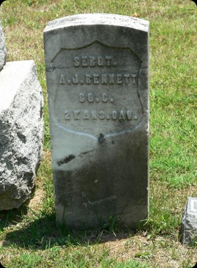 Andrew Jackson Bennett Military Headstone