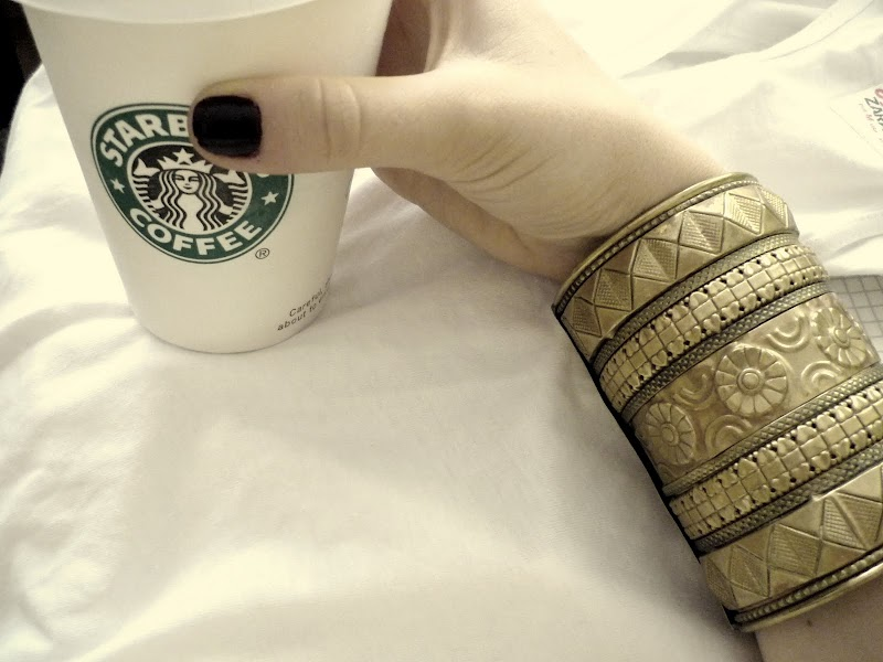 STARBUCKS AND A BRACELET