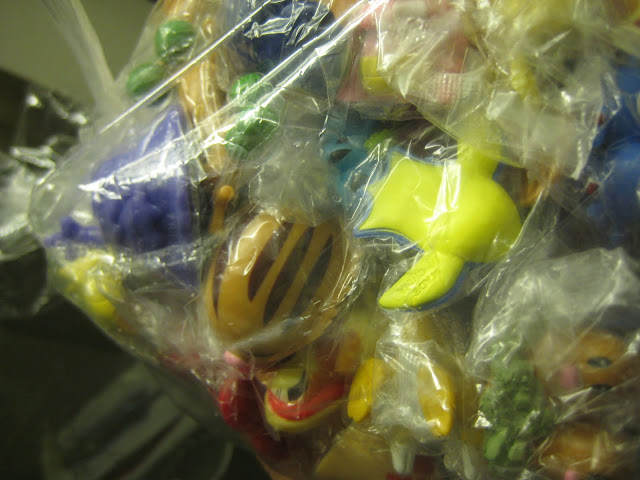 100 Pokemon dolls I bought at the Temple Street night market