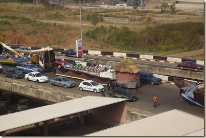Traffic at Abuja Fest