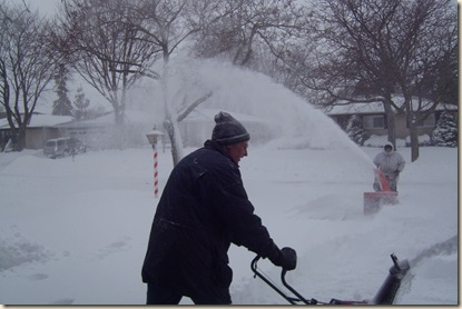 daddy and marv snowblowing