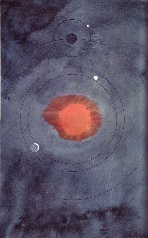 09 Le systeme de Copernic, illus. by Colette Portal (from Le Livre de Sante, v.1, 1967)