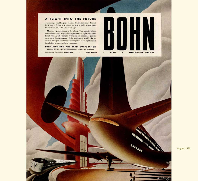 Imaging the Future, Arthur Radebaugh, Bohn Aluminium and Brass Corporation, advertisements