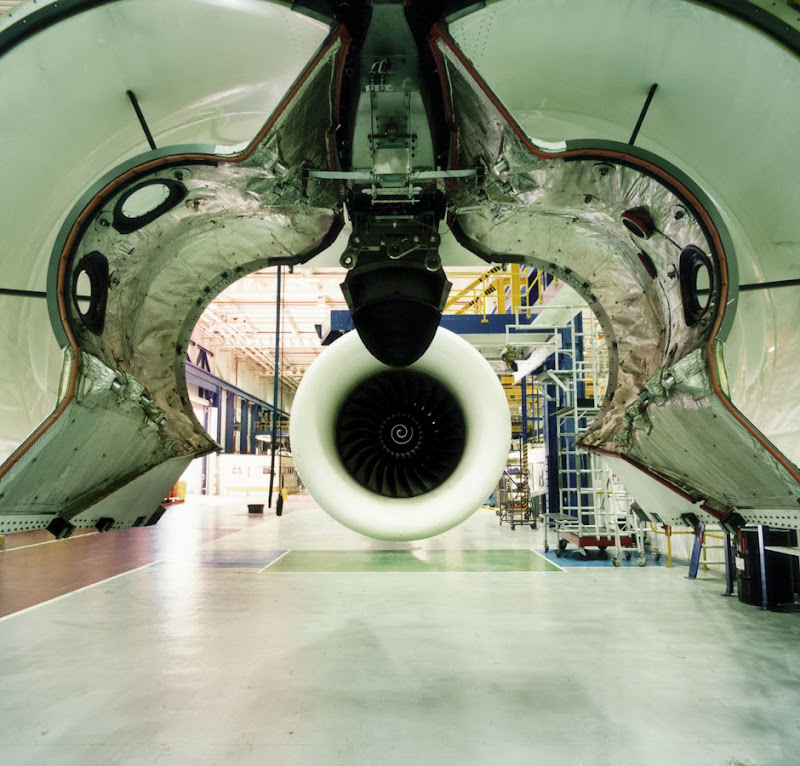 Jane and Louise Wilson's best shot: a photograph of an aircraft engine in a factory in Derby