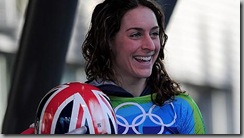 Amy Williams sliding gold medal