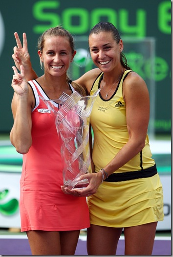 Gisela Dulko of Argentina and Flavia Pennetta of Italy