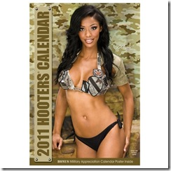 hooters girls 2011 calendar