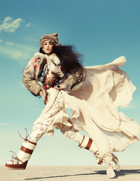 Liu Wen by Greg Kadel in Wild Dreams - Vogue Germany Nov 2010 - 9