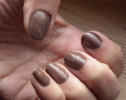 elf smokey brown nail polish