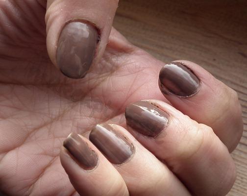 elf smokey brown nail polish