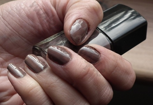 elf smokey brown nailpolish