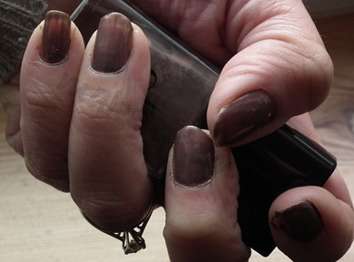 makeuptemple elf smokey brown nail polish