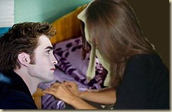 "In this film publicity image released by Summit Entertainment, Robert Pattinson portrays Edward Cullen, left, and Kristen Stewart portrays Bella Swan in a scene from ""The Twilight Saga: New Moon."" (AP Photo/Summit Entertainment, Kimberley French)"