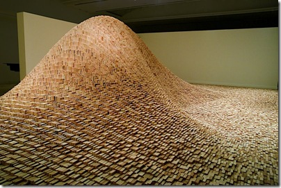 Maya Lin, 2 X 4 Landscape, 2006. Wood. 36' x 53' x 10' Courtesy of the artist and Gagosian Gallery. Photo by Colleen Chartier.