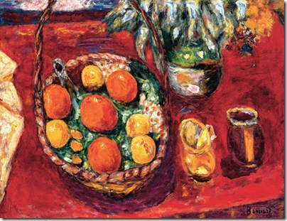 Basket of Fruit: Oranges and Persimmons (ca. 1940), Oil on canvas; 21 3/4 x 29 1/4 in. (58 x 74.5 cm), Private collection.