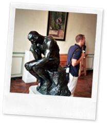 Matt exploring Musée Rodin (2005)