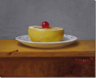 Half Grapefruuit with Cherry by Terry Trambauer Norris