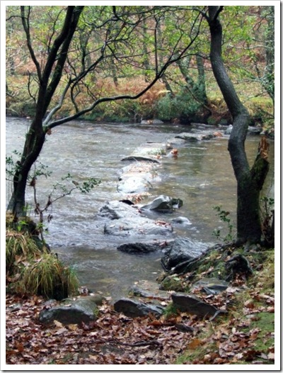 Stepping Stones Crossing the River Duddon to Seathwaite