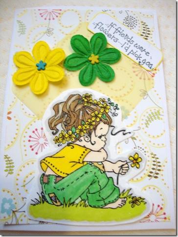 Manda's card grass & canary