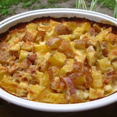 Potato, Bacon & Blue Cheese Bake
