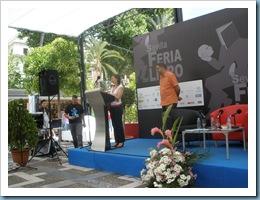 Lola Crespo Rodríguez en La Pérgola. Feria del Libro de Sevilla. Presentación Antología IV Premio Plumier de Verso. Nuño Editorial Sevilla 23 mayo 2009