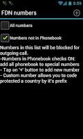 Screenshot of Outgoing Call Blocker ProKey