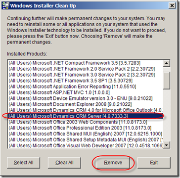 UninstallCRM4