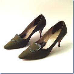 vintage suede stilettos