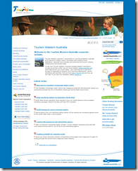 Tourism WA Corporate Homepage MOSS 2007