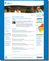 Tourism WA Corporate Homepage MOSS 2007
