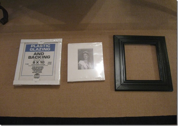 black frames and white table 001