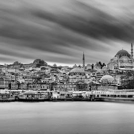 Under the clouds by Mustafa Çetinkaya - Buildings & Architecture Public & Historical ( clouds history long exposure nd building istanbul turkey )