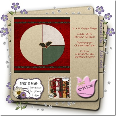 Flower Scraps Homespun Christmas Preview Page