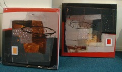 Art Village set of three paintings for Danial's room