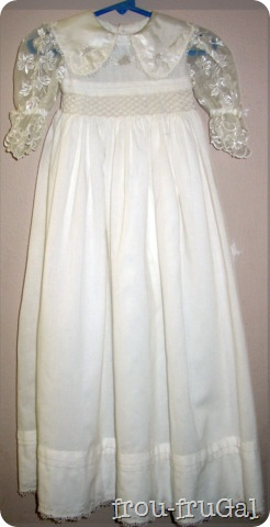 Brazilian Embroidery Blessing Gown Full