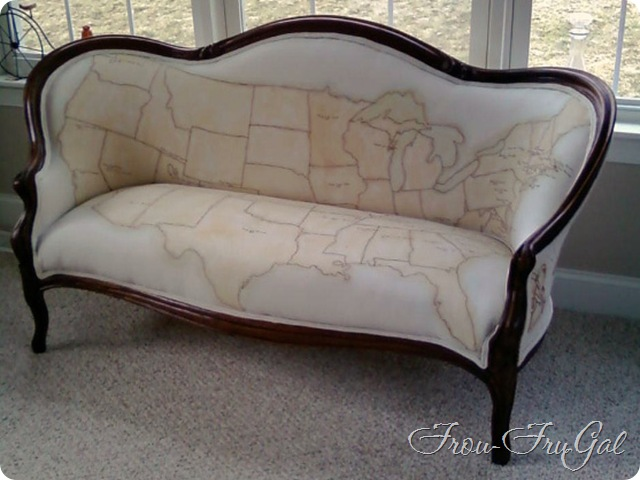 Ancestral Map Settee