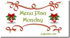 Menu Plan Monday Christmas