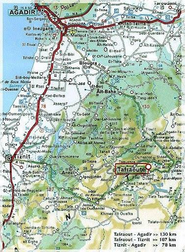 Morocco Map Agadir Agadir region maps