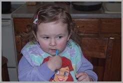 Rylee Brush Teeth 1-28-10