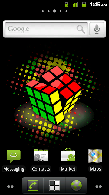 Home Screen with 1.9.5 background